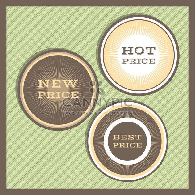 Collection of premium quality labels with retro vintage styled design - Free vector #131464