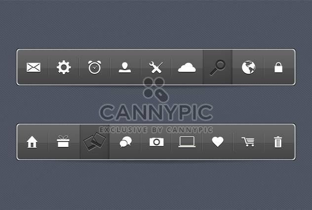 Office icons vector set - Free vector #131484