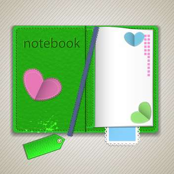 Vector notepad paper illustration - Free vector #131494