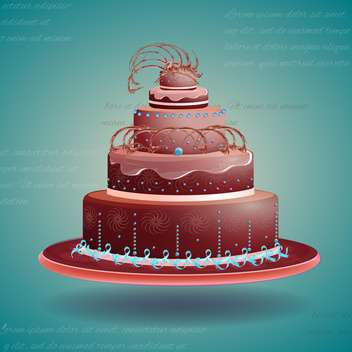 Cute and tasty birthday cake illustration - бесплатный vector #131514