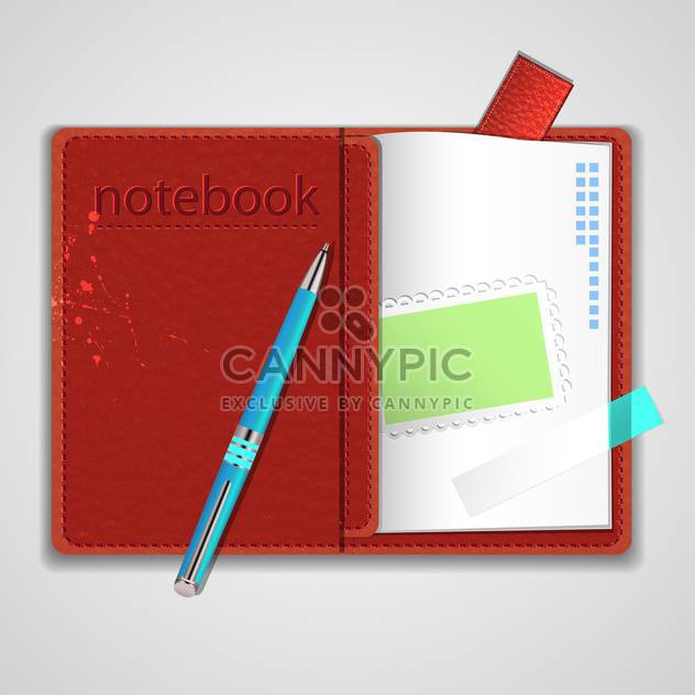 Vector notepad paper illustration - Free vector #131604