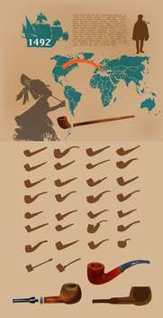 Vector infographic elements with smoking pipes. - бесплатный vector #131714