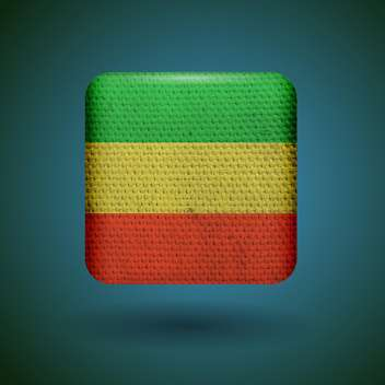 Rastafarian reggae flag with fabric texture vector icon - vector gratuit #131804