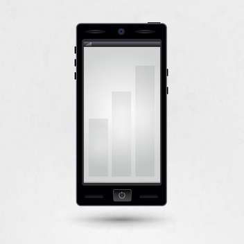 Black smartphone with empty screen illustration - Free vector #131854
