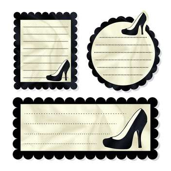 Vintage vector card with shoes - vector gratuit #131874