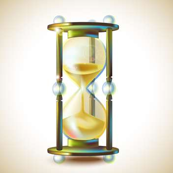 3d beautiful hourglass vector illustration - vector gratuit #131964
