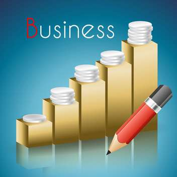 Success business graphic with coins vector illustration - Free vector #132044