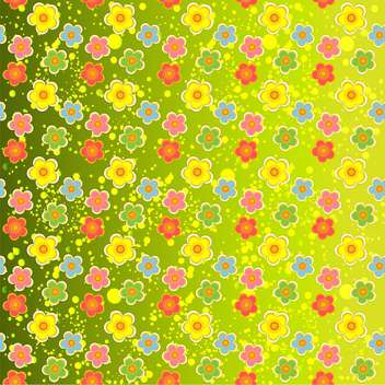 Green vector floral background - vector gratuit #132064