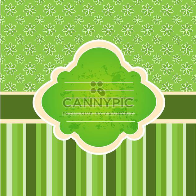 Vintage vector frame with copy space on green background - Free vector #132084