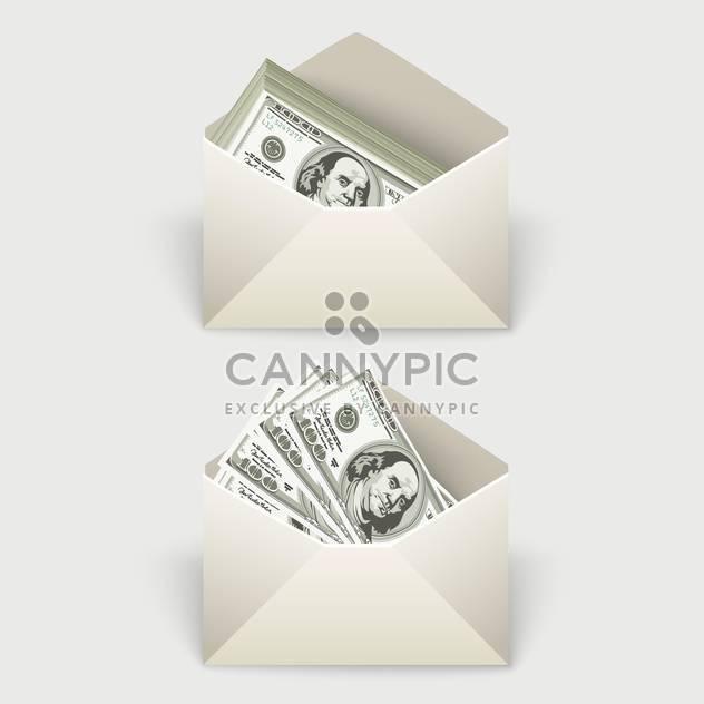 Dollar bills in two envelopes,vector illustration - Free vector #132174