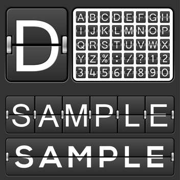 Set of letters on black mechanical timetable - vector gratuit #132194
