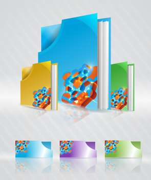 Vector set of colorful abstract folders - Free vector #132244