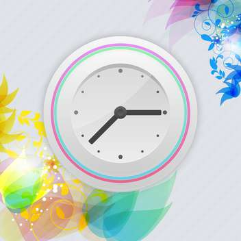Vector watch on floral background,vector illustration - vector gratuit #132254
