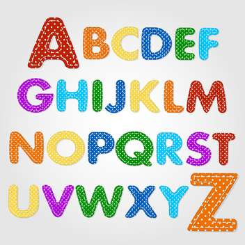 old fashioned colorful alphabet,vector illustration - vector gratuit #132354