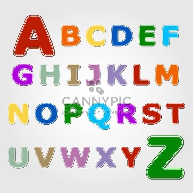 Bunte Aufkleber Schrift mit Buchstaben von A bis Z - Kostenloses vector #132364
