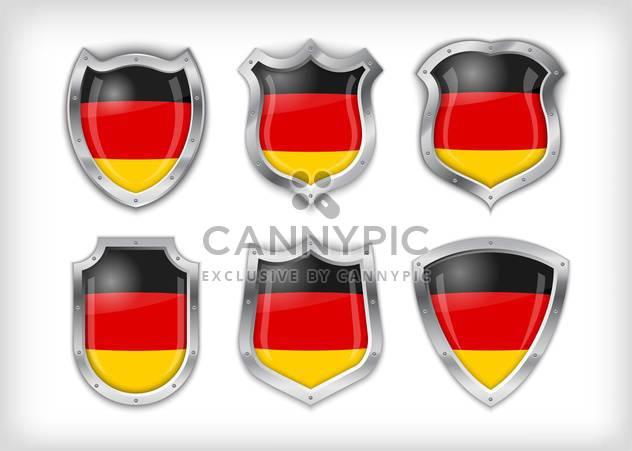 Unterschiedliche Symbole mit Fahnen von Deutschland, Vektor-illustration - Free vector #132374