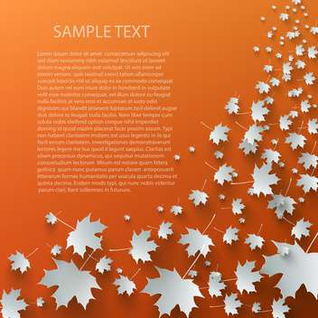 Flying autumn leaves background with space for text - vector gratuit #132394
