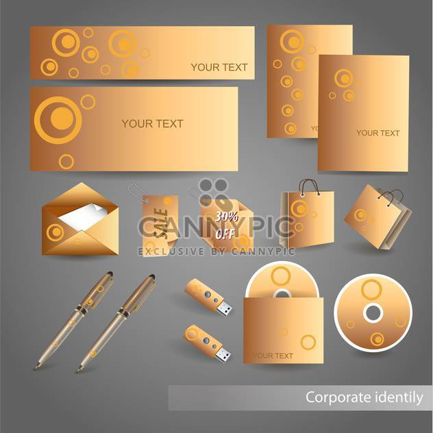 Selected golden corporate templates, vector Illustration - Free vector #132444