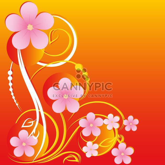 vector summer floral background - Free vector #132494