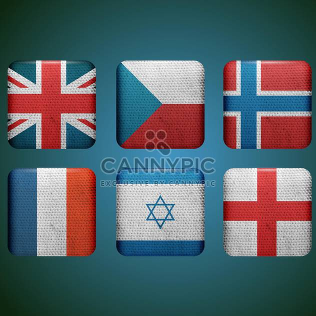 set of different countries flags - Free vector #132564