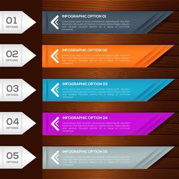 infographic options banners with numbers set - vector gratuit #132574