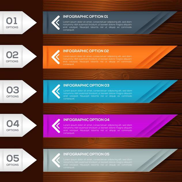 infographic options banners with numbers set - Free vector #132574