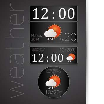 weather report icon background - vector #132594 gratis