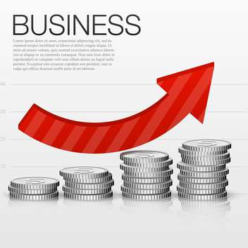business success concept with coins and graph - vector #132634 gratis