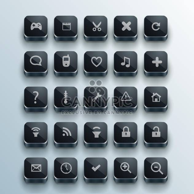 set of web computer icons - Free vector #132724