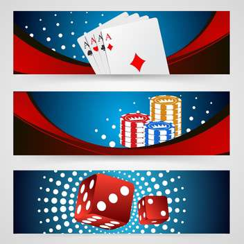 poker gambling chips, dices and cards - Free vector #132754