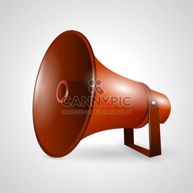 loudspeaker or megaphone vector illustration - Free vector #132794