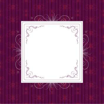 vintage frame on purple background - vector gratuit #132824