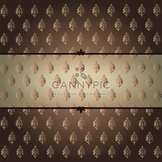 vintage vector damask background - Free vector #132844