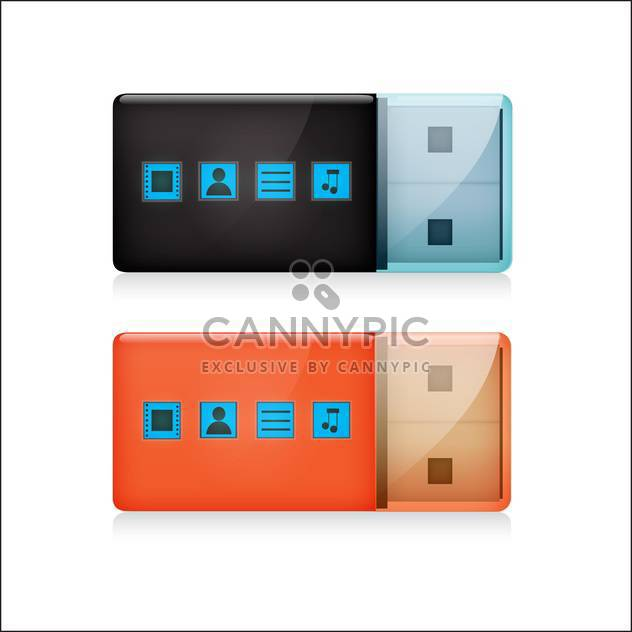 flash drive set vector illustration - Free vector #132884