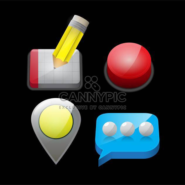 web site vector icons set - Free vector #132894