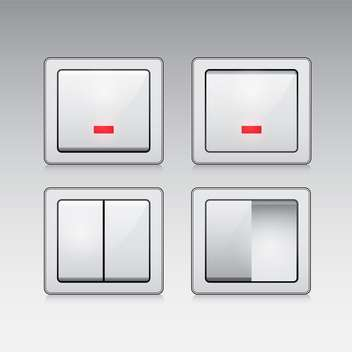 electric switch web vector icons - vector #132904 gratis