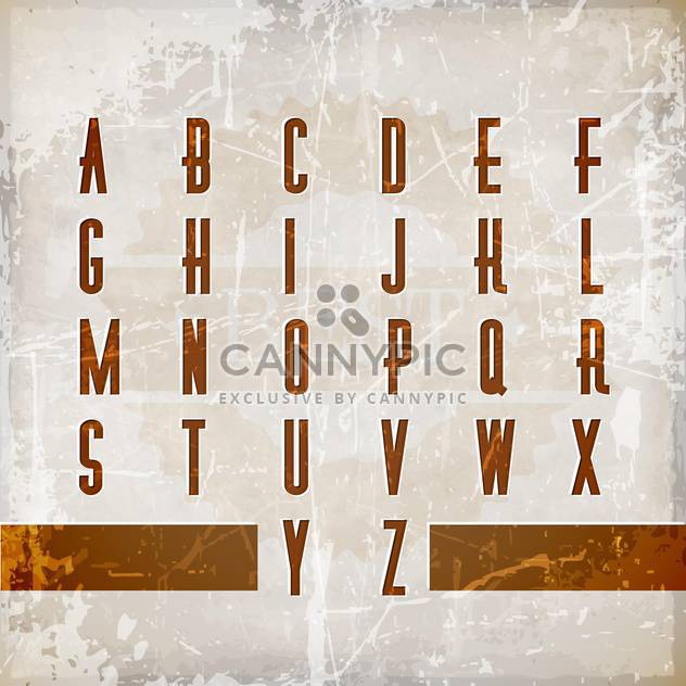 vector alphabet in vintage style - Free vector #132944