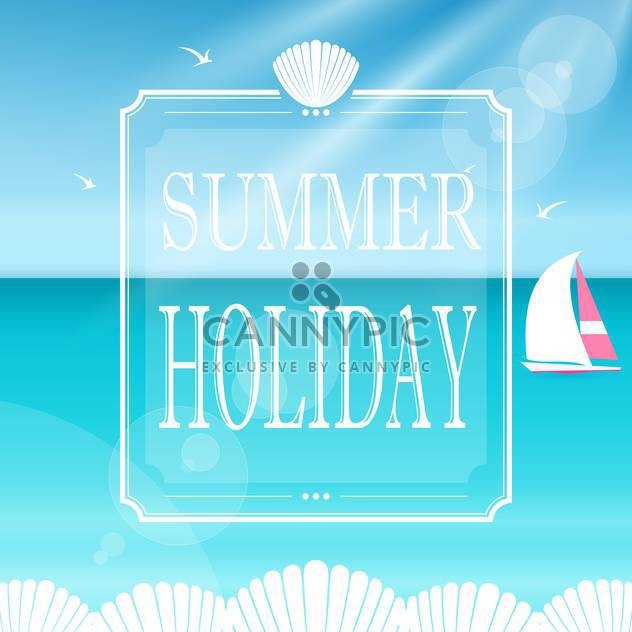summer holiday vacation banner - Free vector #132964