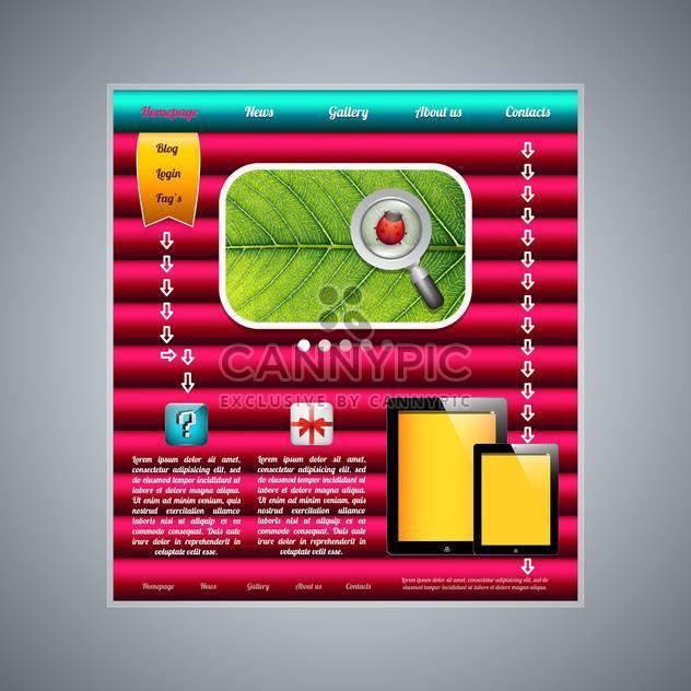 moderne Webseite Vorlage Hintergrund - Kostenloses vector #132994