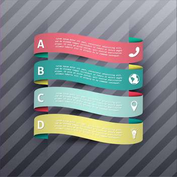business process steps banners - Free vector #133004