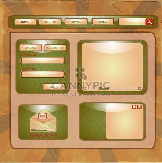 Entwurfsvorlage für abstrakte Webseite - Free vector #133034