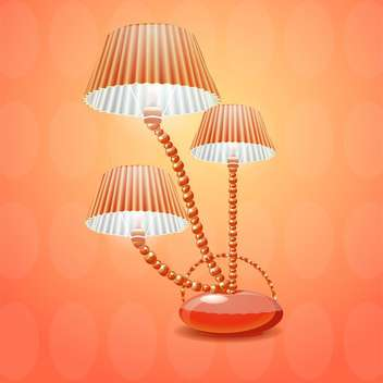 lamp with shade vector illustration - vector gratuit #133074