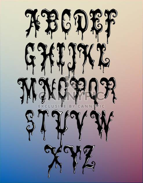 wax font alphabet letters set - Free vector #133154