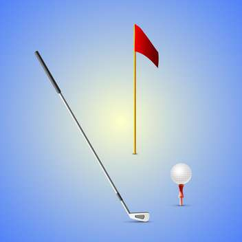 set of golf equipment illustration - vector gratuit #133204
