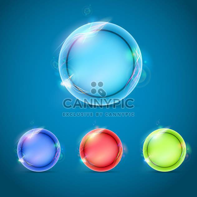 vector glossy abstract buttons set - Free vector #133214