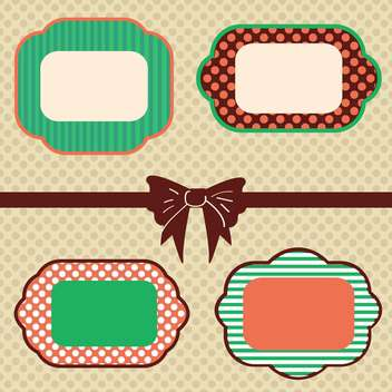 vintage frames set background - vector gratuit #133224
