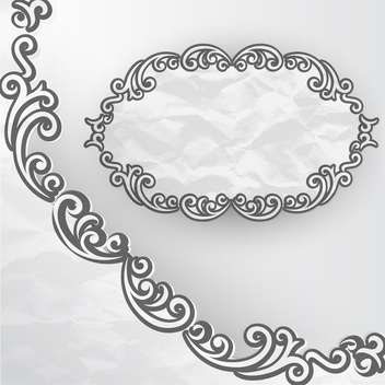 vintage vector frame background - vector #133254 gratis