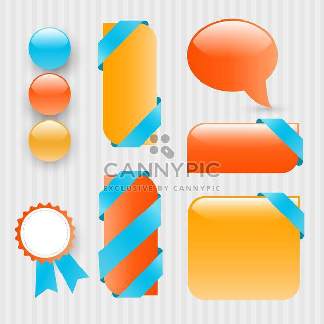 vector set of business labels background - Free vector #133264