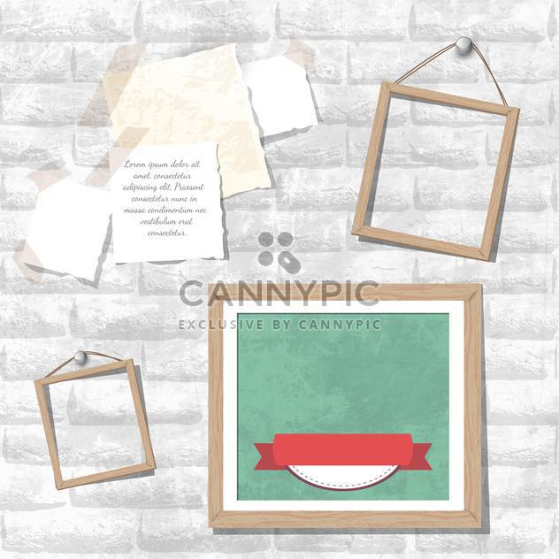 vintage photo frames vector set - Free vector #133274