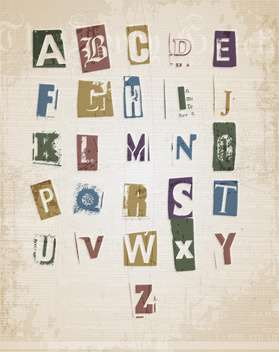 sketched alphabet letters set - vector #133314 gratis